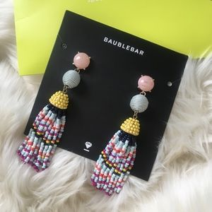 Bauble bar multi colored earrings, NWT